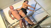 Slutty secretary gets wet watching the worker