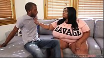 Ebony Mom Cotton Candi Seduces Daughters Boyfri...