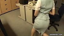 Asian slut getting fucked on the office table