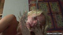 Blonde whore Angela Stone hardcore sex with thin long cock! صورة
