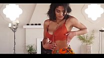 Horny  girl in red bra and saree part 2 sexy make u cum Thumbnail