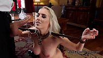 Two blonde stepsis sharing dick in bondage