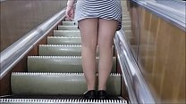 Under the dress in the subway