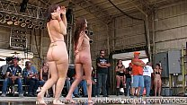 gorgeous biker chicks getting fully nude in iowa wet tshirt contest thumbnail