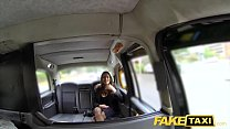 Fake Taxi hot busty babe gets massive cum shot over her tits Image