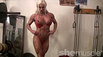 Female Muscle Porn Star Works Out Big Tits