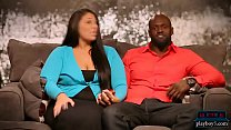 Interracial amateur couple wants to try a threesome preview image