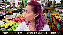 CARNE DEL MERCADO - Oiled up hard pickup and fuck with busty Latina Veronica Orozco preview image