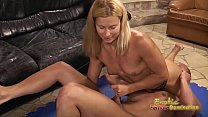Blonde jerks and pulls on cock tb4 image