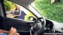 NICHE PARADE - Pretty Ebony Girl With Nice Smile Giving Me Handjob Through Car Window