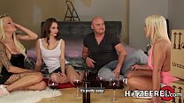 HITZEFREI Orgy with three beautiful busty German ladies Vorschaubild