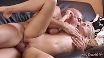 Old young and man loves licking pussy Horny platinum-blonde wants to
