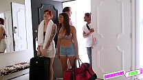 Ava Little and Ella knox gets fucked by her partner erect