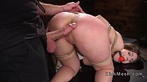 Huge natural tits slave gets anal banged video
