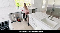 ExxxtraSmall - Horny Babe Gets DP from Carpenters thumbnail