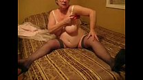 Exhibitionist granny loves to be watched