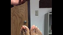 Office cummy toes