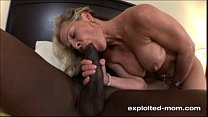 Blonde Milf gets her Back Blown Out by a Big Black Cock Interracial Video صورة