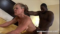 Blonde Milf gets her Back Blown Out by a Big Black Cock Interracial Video preview image