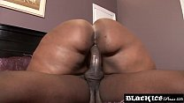 Lustful BBW Ms Marshae stuffed and sprayed by bbc