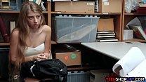 Skinny teen shoplifter finally caught and taken advantage of