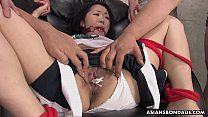 Sweet Ai Mizushima is getting stuffed with a hu...