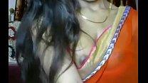 Girl showing boobs nipples in saree