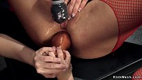 Young lesbian anal toys busty Milf
