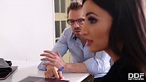 Business meeting with hot Milf Alyssia Kent leads to double penetration thumbnail