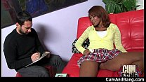Nasty black girl grouped and facialed 23