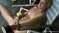 Outdoor Masturbation For Skinny Blonde Wifey Making Deep