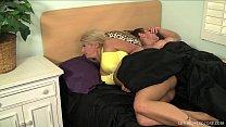 Blonde pornstar Laela Pryce gives boss handjob gets facial