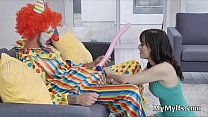 Wifes hot sucky fucky after party with the clown