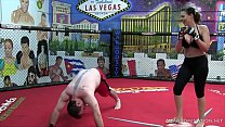 Scarlett Devine Mixed Martial Arts Femdom Beatdown