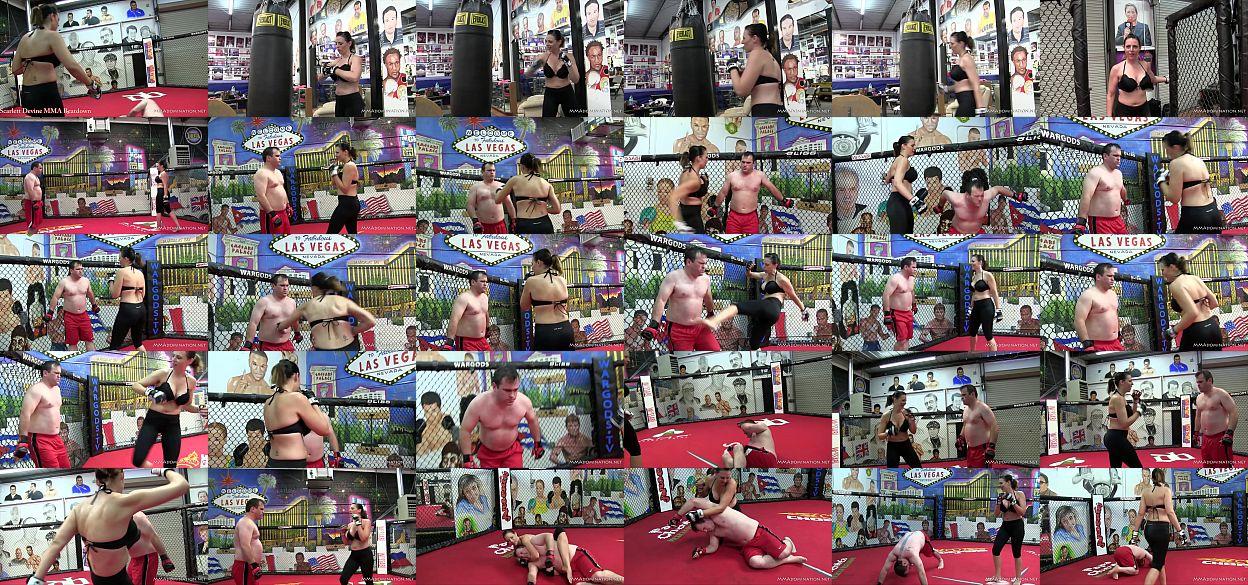 Scarlett Devine Mixed Martial Arts Femdom Beatdown 预览图