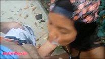 HD Tiny Asian Thai Teen Heather Deep gives deepthroat throatpie with condom and eats cum