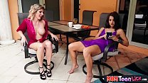 Stepmom MILF gets her teen stepdaughters attention preview image