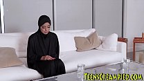 Busty Hijab Ama teur Sucks And Rides Cock And  Rides Cock And Gets Oral