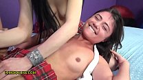 ADRIA RAE FIRST SQUIRT in INTENSE THREESOME - PAWG Schoolgirl Trained to Gush Like A Geyser - Part 1