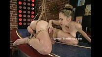 Ropes hold tight slut body and hands thumb