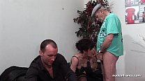 19422 Amateur mature hard DP and facialized in 3way with Papy Voyeur preview