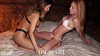 BAEB First lesbian porn shoot with popular camgirl Jenny Blighe thumbnail