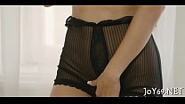 Lovely teen likes intensive toying