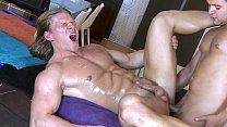 Big hunk gives a nice massage   some extra