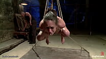 Slave in upside down suspension caned