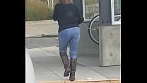 A Fan got video of MarieRocks out in public