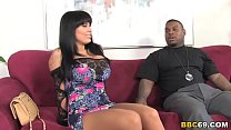 Cougar Sienna West Sucks Big Black Cock's Thumb