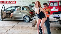 LETSDOEIT - #Eva Berger #Therese Bizzare - Russian MILF Mom Pays With Pussy For Her Car While Her Stepdaughter Is Watching
