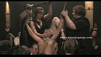 Sexy babes used by men in gangbang sex thumbnail