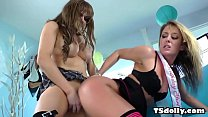 Hot tranny for birthday present - Sheena Shaw and TS Jesse Flores